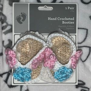 Hand crocheted booties